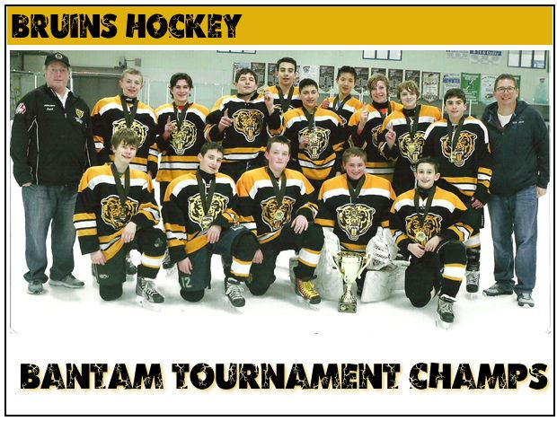 Bruins Hocky Group Photo - Bantam Tournament Champs