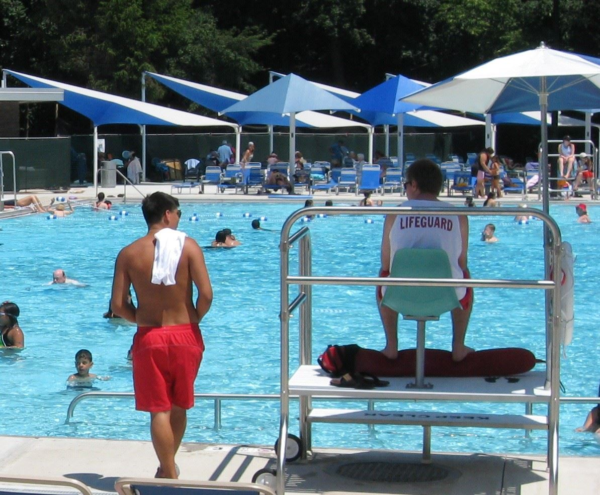 Lifeguards at Parkwood Pool