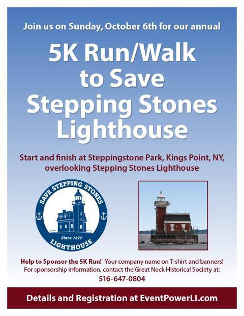 Stepping Stones Lighthouse 5K Run 2019 flyer