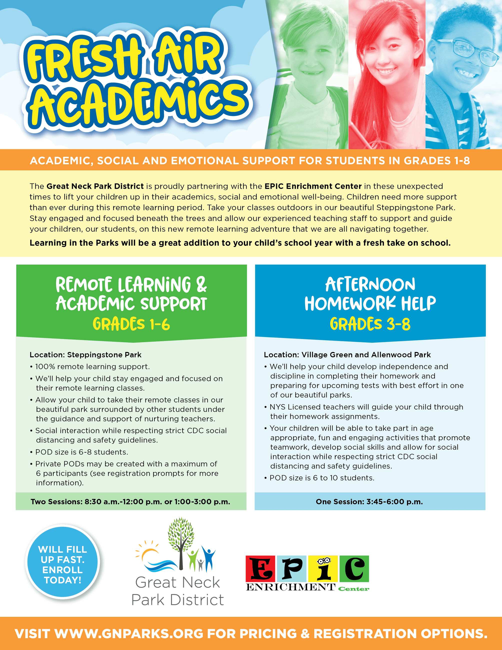 8.5x11 Fresh Air Academics Flyer 9-2020 WEB