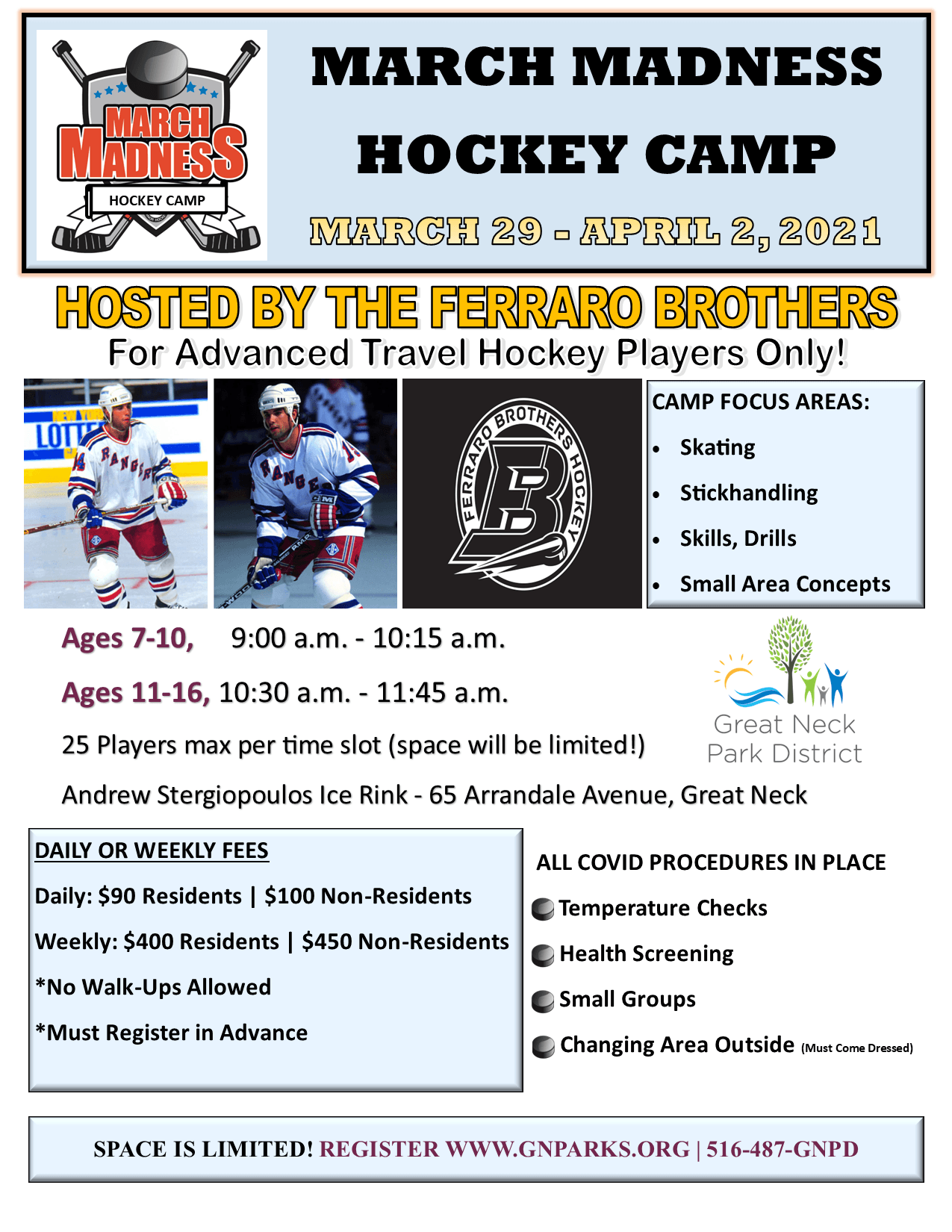 March Madness Hockey Camp - Ferraro Bros.