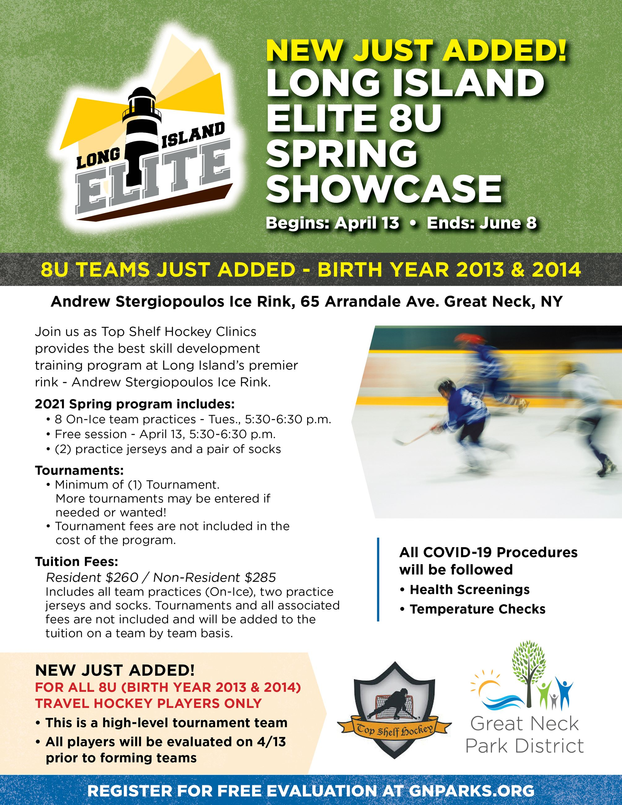 8U Long Island Elite Flyer 2021 - NEW JUST ADDED