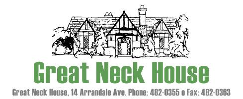 Great Neck House Drawing With Address and Contact Information